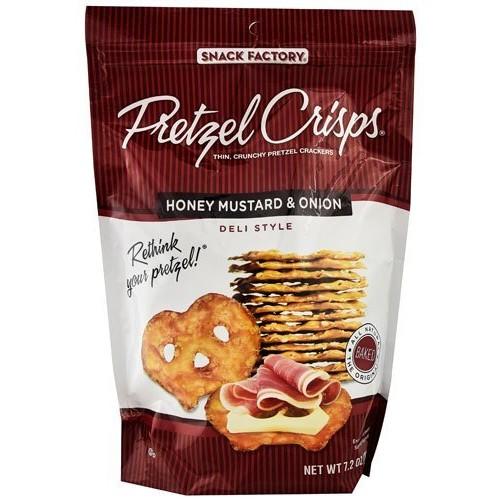 Snack Factory Pretzel Crisps Deli Style Honey Mustard & Onion --...