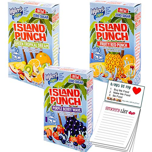 Wyler's Light Island Punch Variety pack of 3, 30 Singles to Go W...