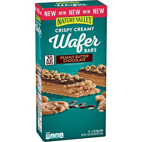 Nature Valley Crispy Creamy Wafer Bar, Peanut Butter Chocolate ...