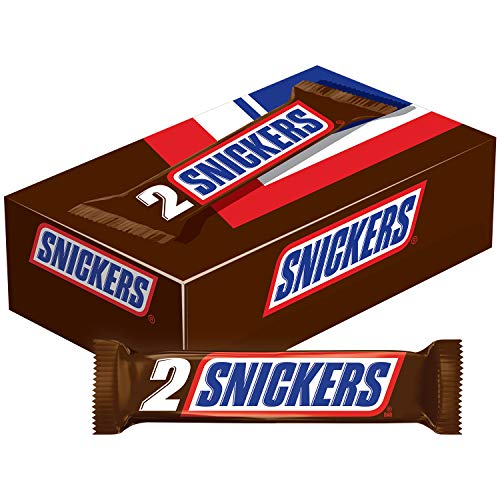 SNICKERS Sharing Size Chocolate Candy Bars 3.29-Ounce Bar 24-Cou...