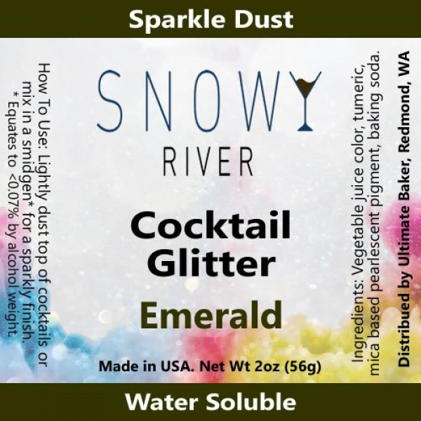 Snowy River Natural Emerald Cocktail Glitter - Kosher Certified ...
