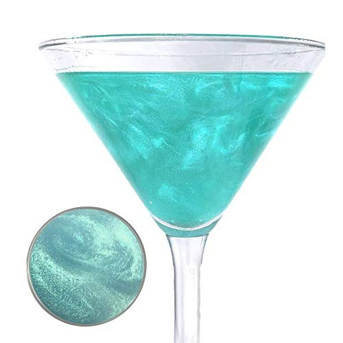 Snowy River Turquoise Cocktail Glitter - Kosher Certified Natura...