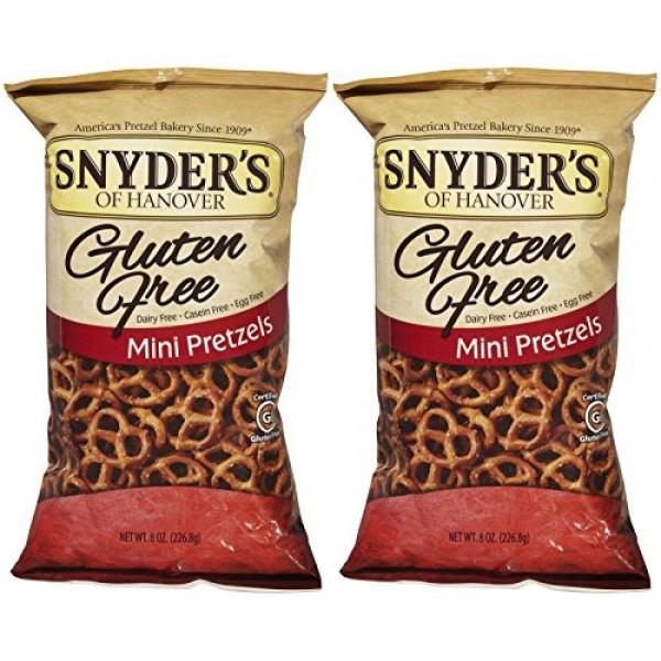 Snyders of Hanover Gluten Free Mini Pretzels - 8 oz - 2 pk