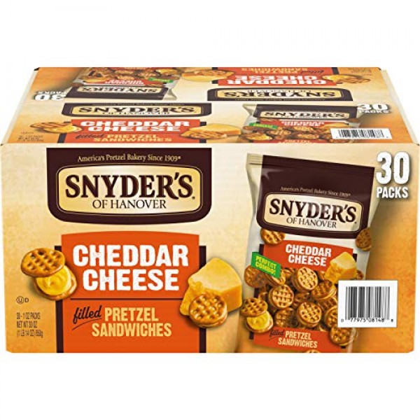 Snyders of Hanover Pretzel Sandwiches, Cheddar Cheese, Individu...