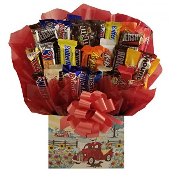 Chocolate Candy Bouquet gift box - Great as gift for Mothers Day...
