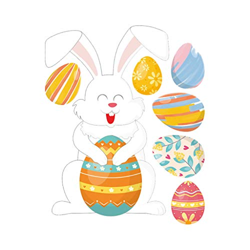 Sodoop Easter Wall Sticker, Personality Rabbit Easter Stickers R...
