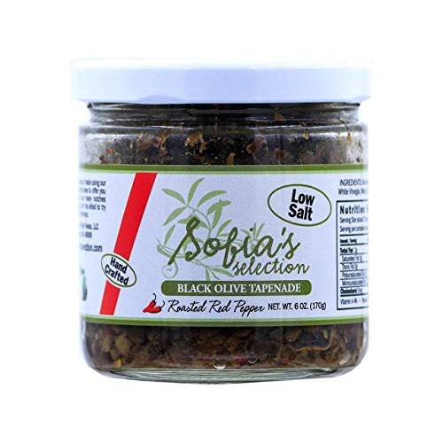 Sofias Selection Black Olive Tapenade with Roasted Red Pepper, ...