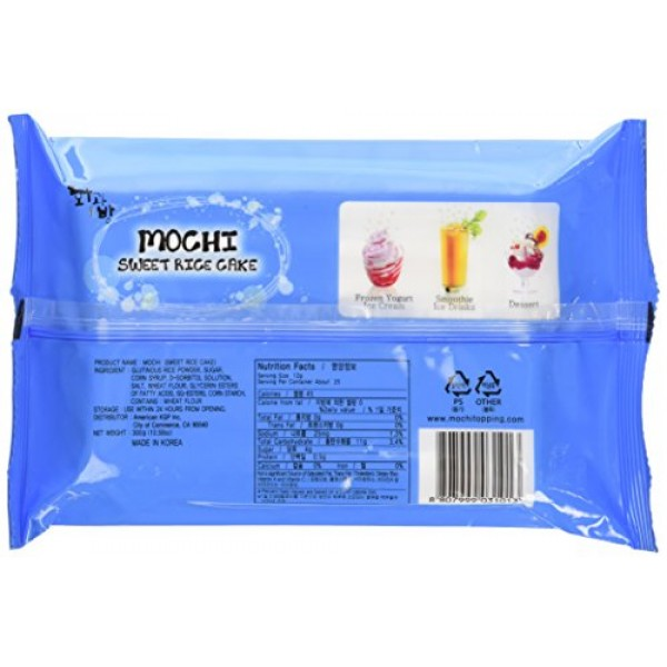 Mochi Sweet Rice Cake Topping - White 300g 10.58oz