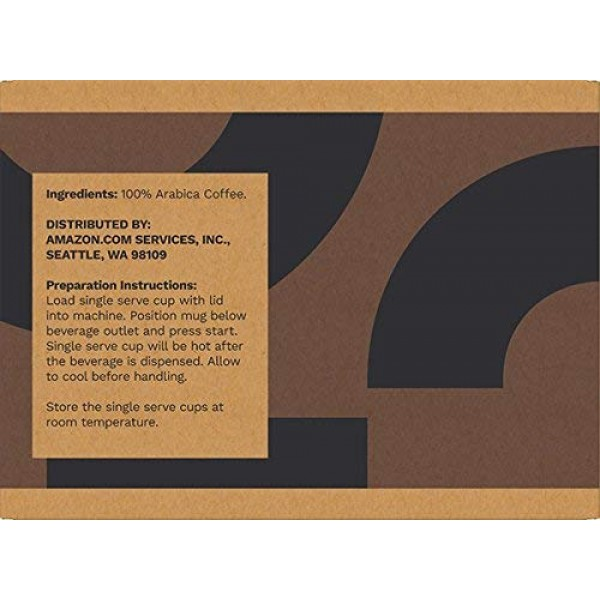 Amazon Brand - 100 Ct. Solimo Dark Roast Coffee Pods, French Roa...