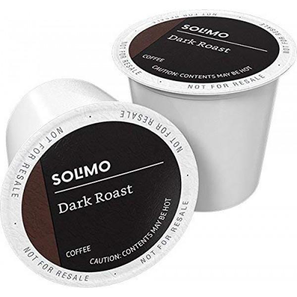 Amazon Brand - 100 Ct. Solimo Dark Roast Coffee Pods, Compatible...