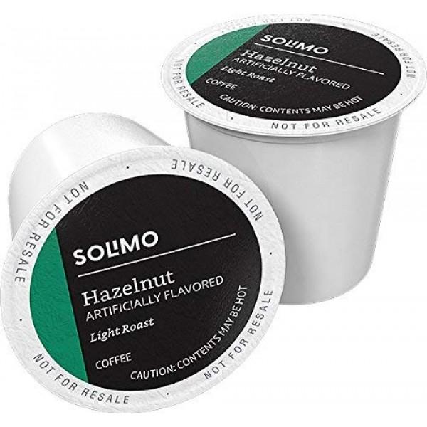 Amazon Brand - 100 Ct. Solimo Light Roast Coffee Pods, Hazelnut ...