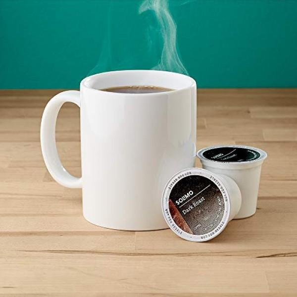 Amazon Brand - 24 Ct. Solimo Coffee Pods, Dark Roast, Compatible...