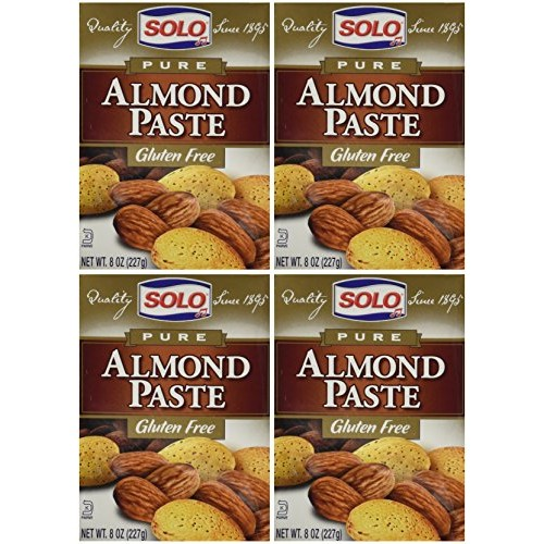 Solo Almond Paste, 8-Ounce Packages Pack of 4