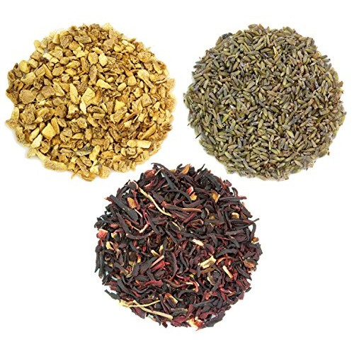 Solstice Teas Dried Ginger, Hibiscus & Lavender Petals for Flavo...
