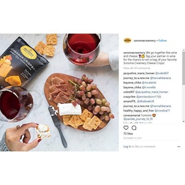 Sonoma Creamery Cheese Crisps - Cheddar Savory Cheese Cracker Sn...