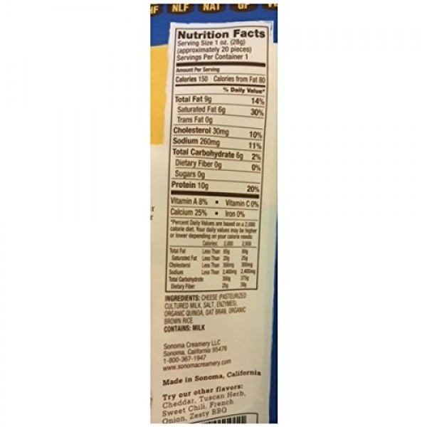 Sonoma Creamery Cheese Os, Parmesan, High Protein / Low Carb / ...