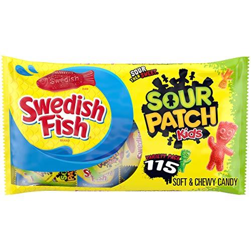 Original SOUR PATCH KIDS & SWEDISH FISH Variety Pack, 115 0.5 ...