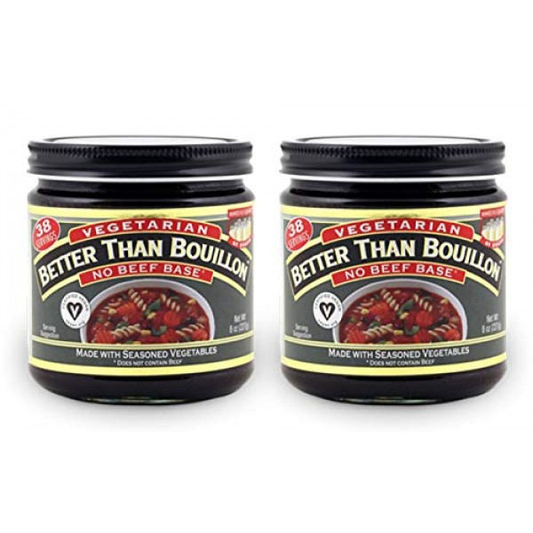 Better Than Bouillon Vegetarian No Beef Base Bouillon, 8 oz Pac...