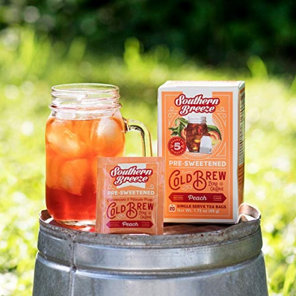 Southern Breeze Cold Brew, Peach Sweet Tea With Zero Calorie, 20...