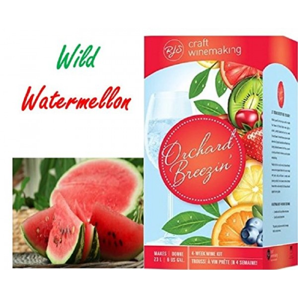 Orchard Breezin Wild Watermelon White Merlot Wine Kit by RJS