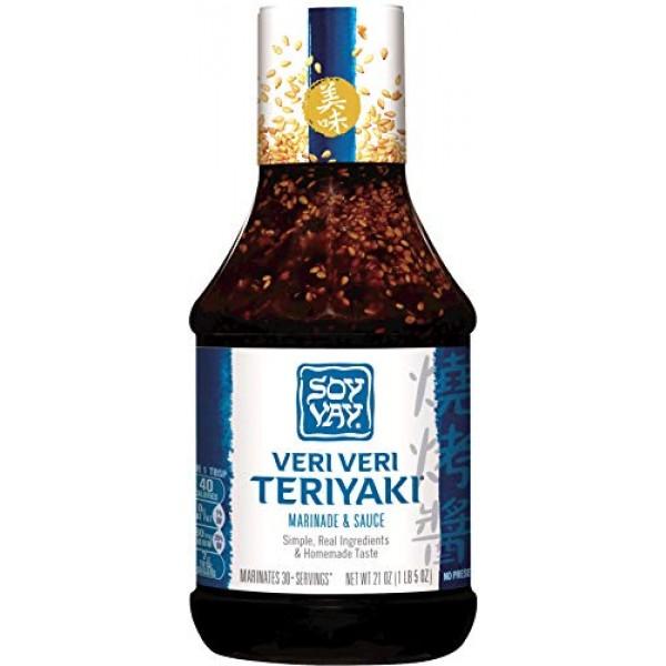 Soy Vay Veri Veri Teriyaki Marinade & Sauce, 21 Ounce Bottle Pa...