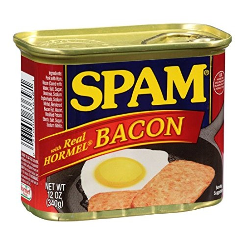 Spam with Real Hormel Bacon Luncheon Meat 12 oz Pack of 12