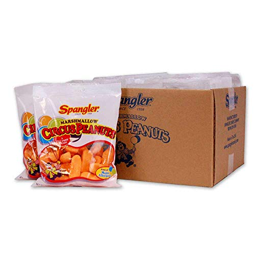 Spangler Circus Peanuts Candy, 5-Ounce Pack of 12