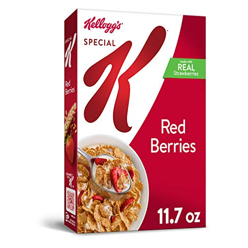 Kelloggs Special K, Breakfast Cereal, Red Berries, With Real St...