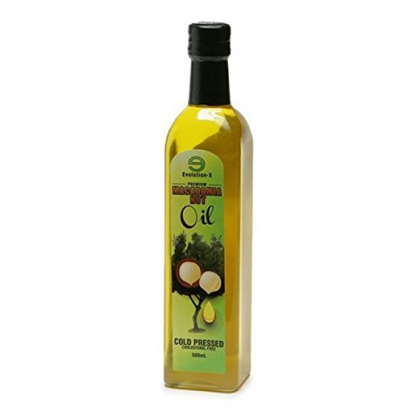Species Nutrition Macadamia Nut Oil, 500-mililiter GLass Bottle