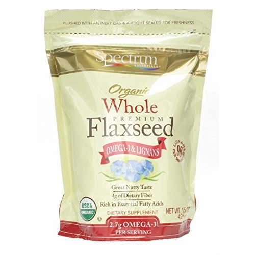 Spectrum Organic Whole Flaxseed, 15 Oz Bag