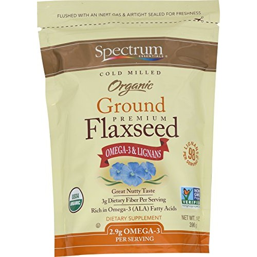 Spectrum Essentials Organic Ground Flaxseed, 14 Ounce Pack of 4
