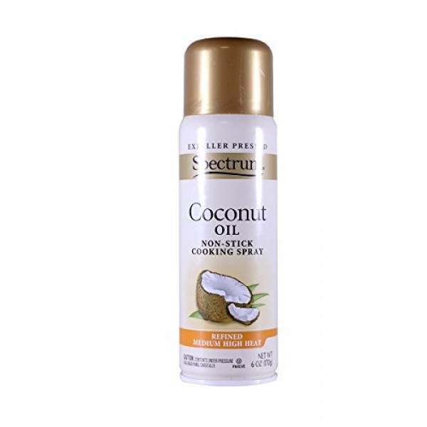 Spectrum Naturals Organic Coconut Oil Spray, 6 Ounce Pack of 2...
