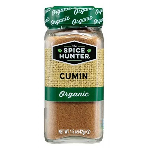 The Spice Hunter Cumin, Ground, Organic, 1.5-Ounce Jar