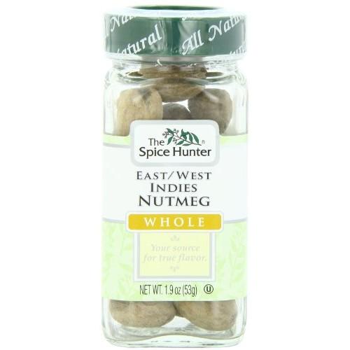 The Spice Hunter Nutmeg, East/West Indies, Whole, 1.9-Ounce Jar