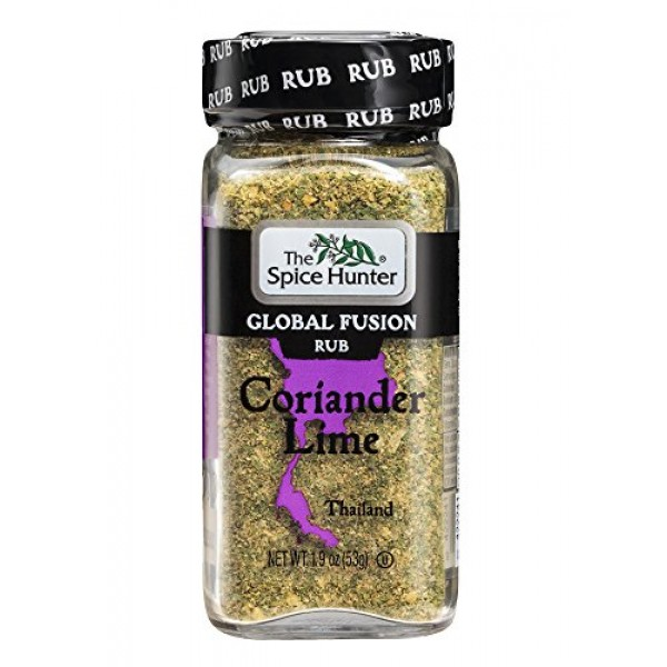 The Spice Hunter Global Fusion Rub, Coriander Lime Thailand, 1.9...