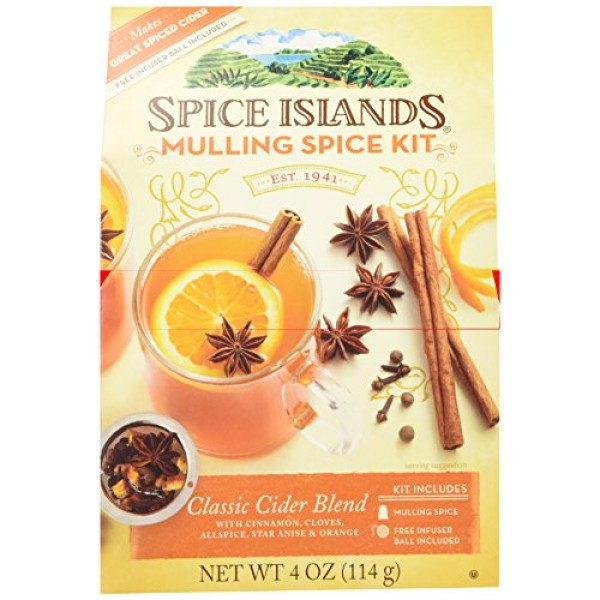 Spice Islands Classic Cider Blend Mulling Spice Kit with Infus...