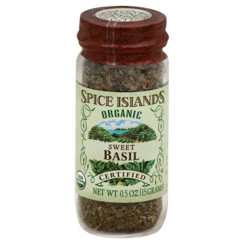 Spice Islands 0.5 Oz Spices, Pack of 4 Organic Sweet Basil
