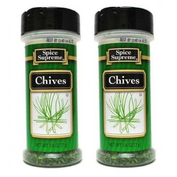 Spice Supreme Seasonings: Chives Pack of 2 .25 oz Size