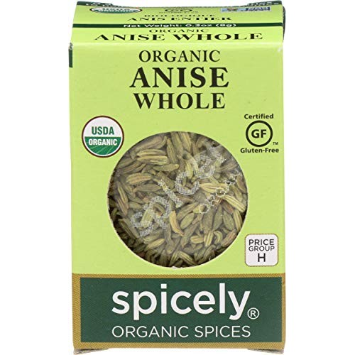 Spicely Organic Anise Seeds 0.3 Oz Certified Gluten Free