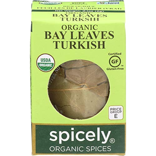 Spicely Organic Bay Leaves Turkish Whole 0.10 Ounce ecoBox Certi...