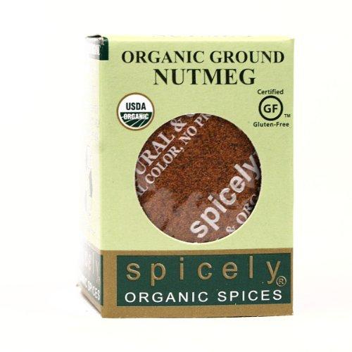 Spicely Organic Nutmeg Ground 0.4 Oz Certified Gluten Free