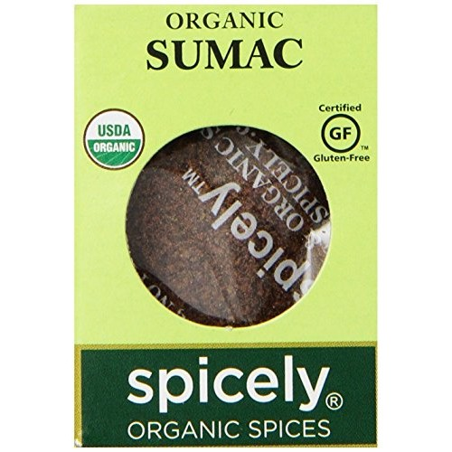 Spicely Organic Sumac Ground 0.45 Ounce ecoBox Certified Gluten ...