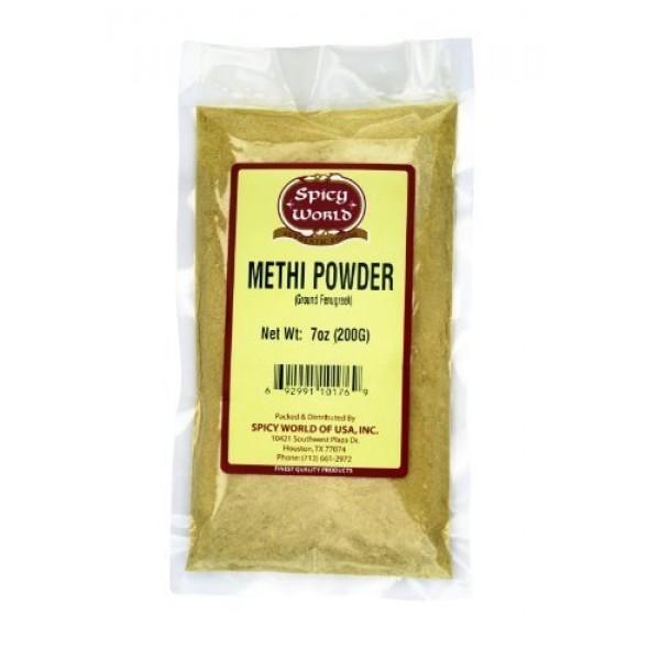 Spicy World Fenugreek Methi Powder 7 Ounce