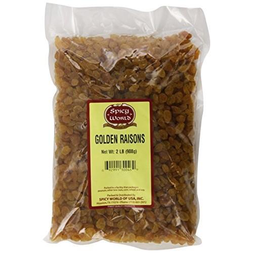 Spicy World Golden Raisins, Premium, 2 Pound
