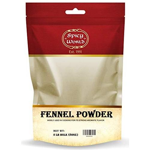 Spicy World Ground Fennel Powder Bulk, 5-Pounds