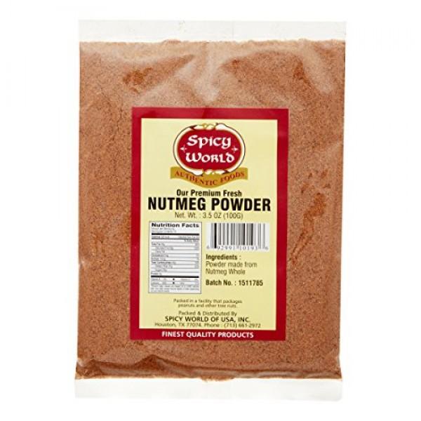 Spicy World Nutmeg Powder 3.5 Ounce