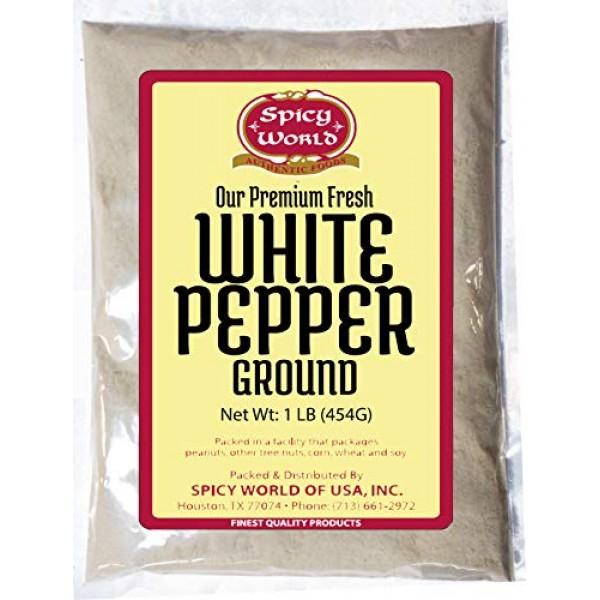 Ground White Pepper Powder 16 Ounce 1 Pound - by Spicy World -...