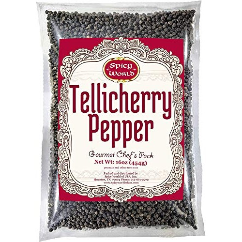 Spicy World Whole Black Peppercorns Tellicherry 16 Oz in Reseala...