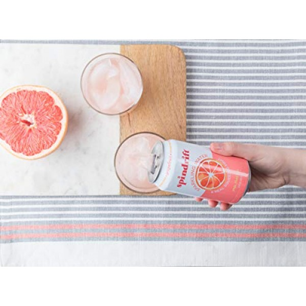 Spindrift Sparkling Water, Grapefruit Flavored, Made with Real S...