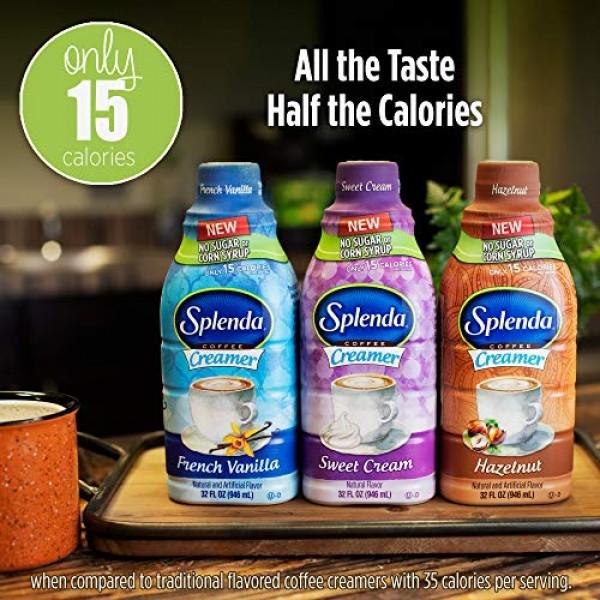 SPLENDA Sugar Free, Low Calorie French Vanilla Coffee Creamer. S...